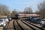 MBTA train laying over near Stoughton station, April 2016.JPG