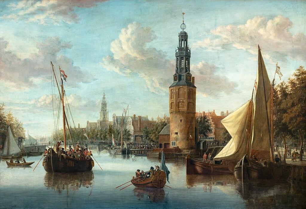 Vue d'Amsterdam entre 1670 et 1690 par Abraham Storck au musée d'histoire d'Amsterdam.