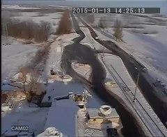 Fichier:MLRS attack on K2 blockpost near Volnovakha (CCTV).webm