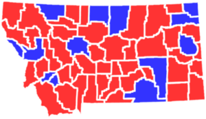 United States presidential election in Montana, 1996 - Image: MT1996president