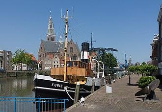 Maassluis - Image: Maassluis, de Furie met de Groote Kerk RM26609 IMG 0511 2016 06 06 11.37