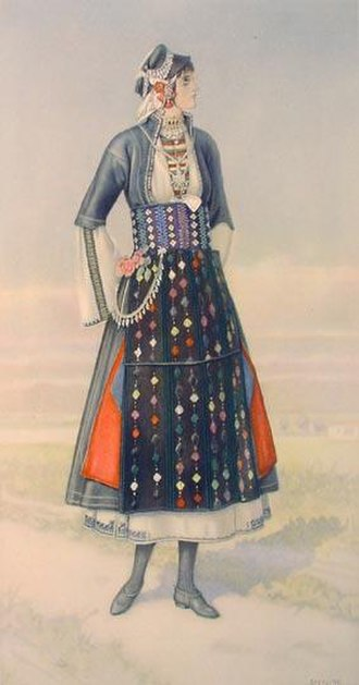 Roumlouki - Image: Macedonia Greek Costume Roumlouki