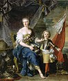 Mademoiselle de Lambesc with her brother Louis de Lorraine, Count of Brionne, 1732, Nattier.jpg