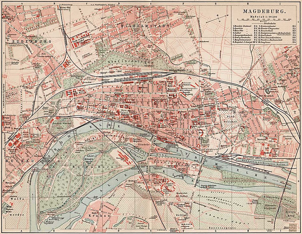 Magdeburg Stadtplan 1900