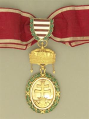 Military Merit Medal (Austria-Hungary) - Hungarian Gold Signum Laudis from 1929