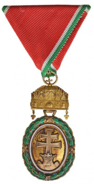 Military Merit Medal (Austria-Hungary) - Hungarian Gold Signum Laudis kleine dekoration