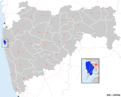 Location of Suburbs of Mumbai district in Maharashtra