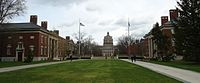Main quad looking east at the University of Rochester.jpg