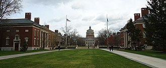 University of Rochester College of Arts Sciences and Engineering - Image: Main quad looking east at the University of Rochester