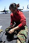 Maintenance work aboard the USS Dwight D. Eisenhower DVIDS158372.jpg
