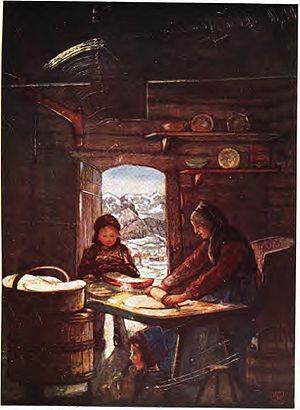 Flatbrød - Image: Making flatbrød