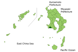 Vị trí của Makurazaki ở Kagoshima