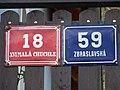 Malá Chuchle, Zbraslavská 59, domovní čísla.jpg