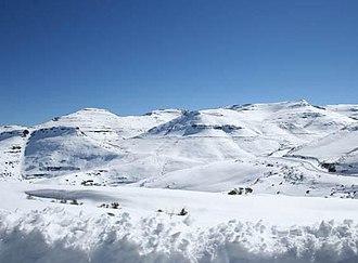 Maloti Mountains - Peaks of the Maloti range in Lesotho