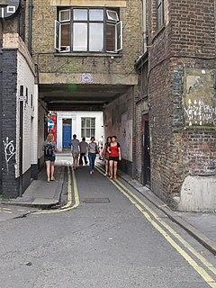 Manette Street street in Soho, London