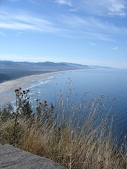 Manzanita Beach from Highway 101, due north of the town.