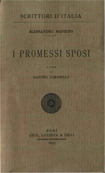 File:Manzoni, Alessandro – I promessi sposi, 1933 – BEIC 1868343.pdf