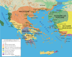 Map Macedonia 200 BC-fr.svg