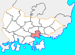 Location of Masanhappo-gu