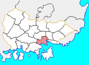 Masanhappo-gu - Image: Map Masan si