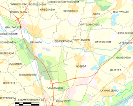 Mapa obce Geudertheim