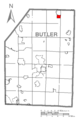 Map of Eau Claire, Butler County, Pennsylvania Highlighted.png