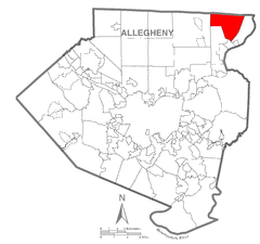 Map of Fawn Township, Allegheny County, Pennsylvania Highlighted.png