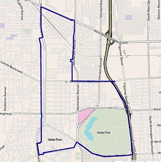 Harbor City, Los Angeles - Image: Map of Harbor City neighborhood, Los Angeles, California