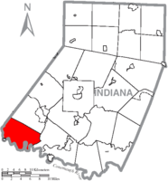 Map of Indiana County, Pennsylvania Highlighting Conemaugh Township