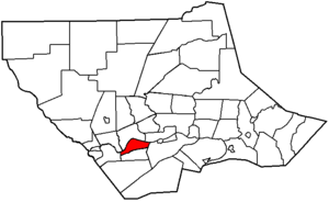 Susquehanna Township, Lycoming County, Pennsylvania - Image: Map of Lycoming County Pennsylvania Highlighting Susquehanna Township