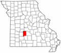 Map of Missouri highlighting Dallas County.png