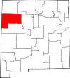 State map highlighting McKinley County