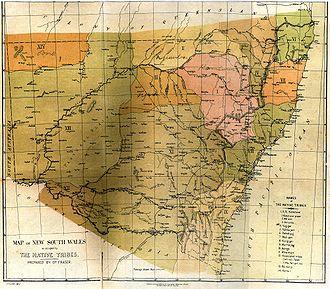 Kuringgai - Fraser's 1892 map. Kuringgai is marked VIII.