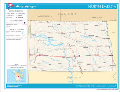 TemplateLocation Map USA North Dakota Wikipedia - North dakota map usa