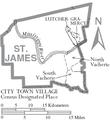 Map of St. James Parish Louisiana With Municipal Labels.PNG