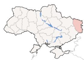 ルハンシク州の位置