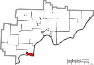 Belpre, Ohio - Image: Map of Washington County Ohio Highlighting Belpre City