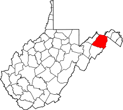 Map of West Virginia highlighting Hampshire County.svg