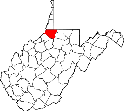 Map of West Virginia highlighting Wetzel County.svg