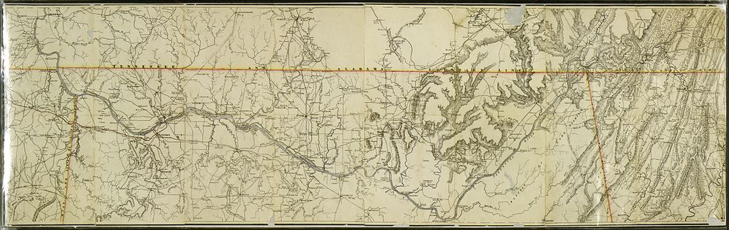 FileMap Of That Portion Of The Tennessee River In Northern - Map of northern alabama
