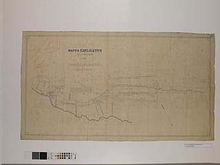 Mappa Explicativo da Localisação das Terras do Rio Feio