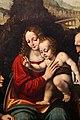 Marco d'oggiono, madonna col bambino, un angelo, san giovannino e san girolamo, 03.jpg