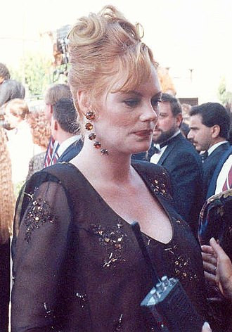 Marg Helgenberger - Helgenberger at the 1990 Emmy Awards