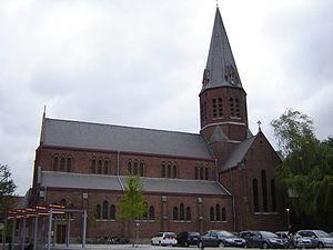 Marke, Belgium - Image: Marke Sint Brixiuskerk 2