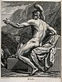 Mars (Ares). Engraving by G. van der Gucht after L. Cheron a Wellcome V0048181.jpg