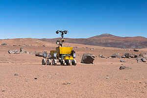 ExoMars (rover) - Rover prototype being tested near the Paranal Observatory, 2013