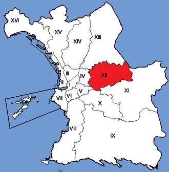 12th arrondissement of Marseille - Image: Marseille Arrondissements 12