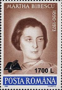 Martha Bibescu 2000 Romania stamp