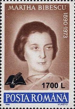 Martha Bibescu 2000 Romania stamp.jpg