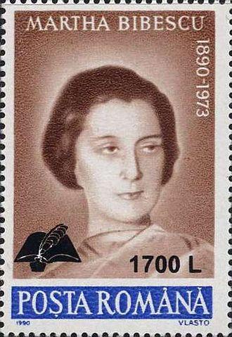Marthe Bibesco - Image: Martha Bibescu 2000 Romania stamp